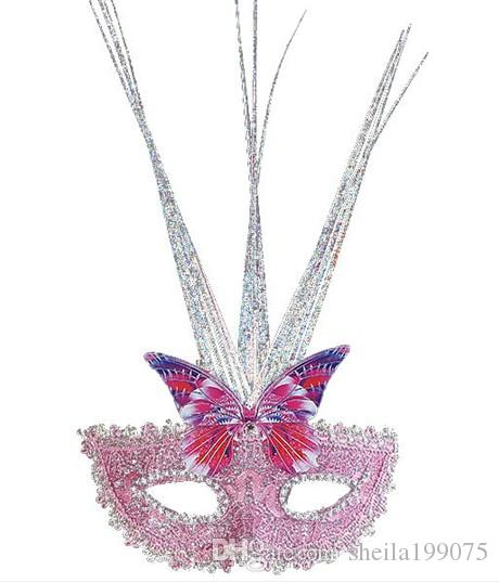 2017 hotsale бабочка Принцесса венецианские маски перо маски дождь танец партия маска Хэллоуин