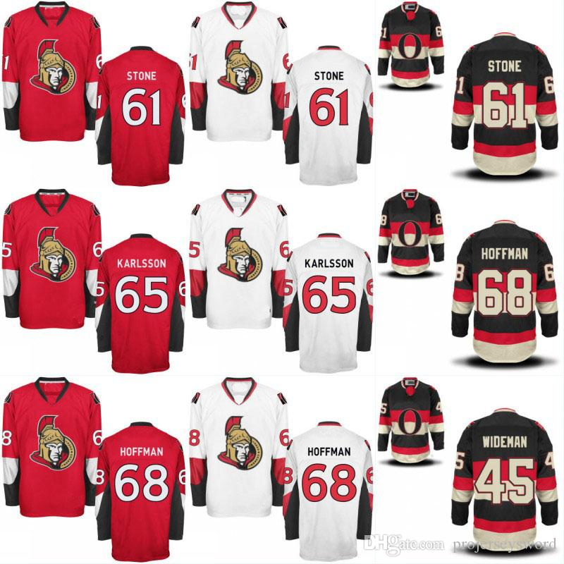 low priced a180b 3a957 Ottawa Senators Jersey 25 Chris Neil 61 Mark Stone 65 Erik Karlsson 72  Thomas Chabot 74 Mark Borowiecki 9 Bobby Ryan Hockey Jerseys