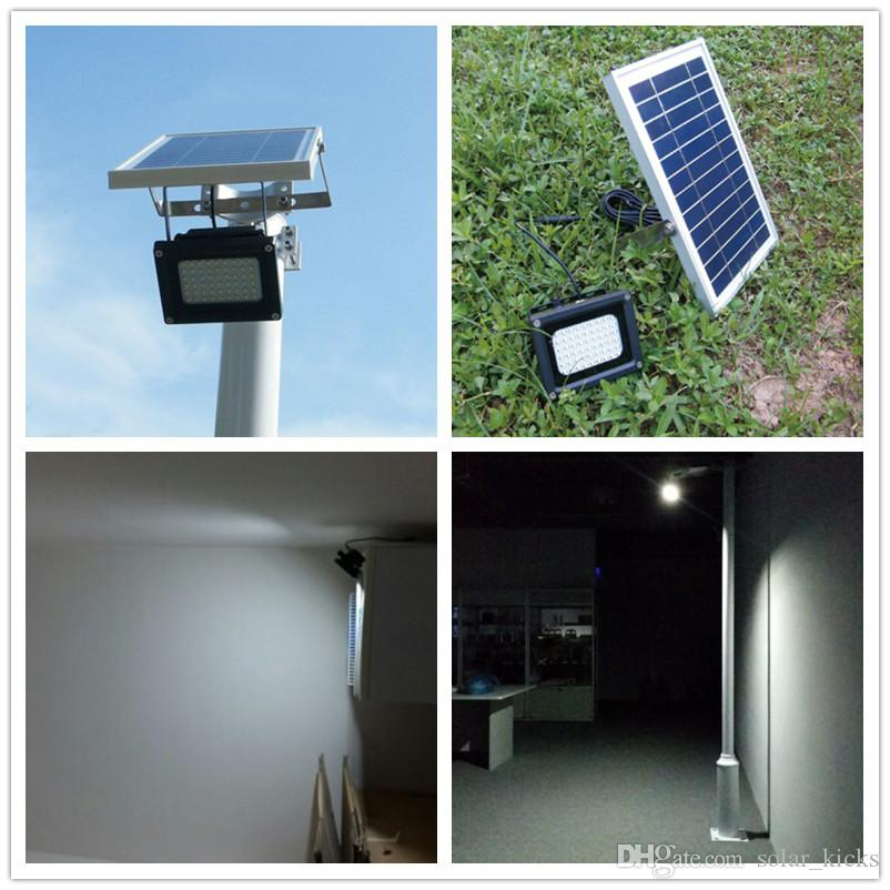 Luz De Casa Luces Led Libre Powered Sensor Solares Césped Reflectores Proyectores Al Pared Aire 54leds Lámpara Iluminación Solar Jardín 7yYbfgvI6
