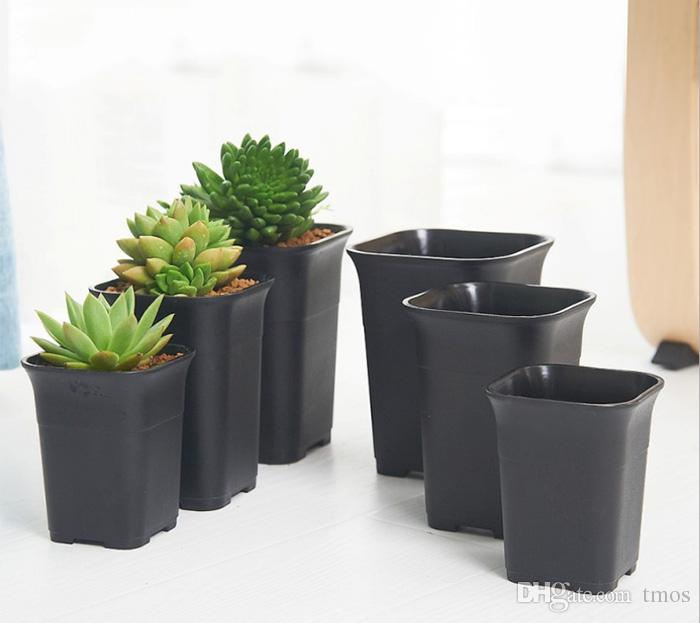 Wholesale Ceramic simulating square succulent flower pot for indoor home desk,greenhouse and outdoor yard,lawn or garden planting