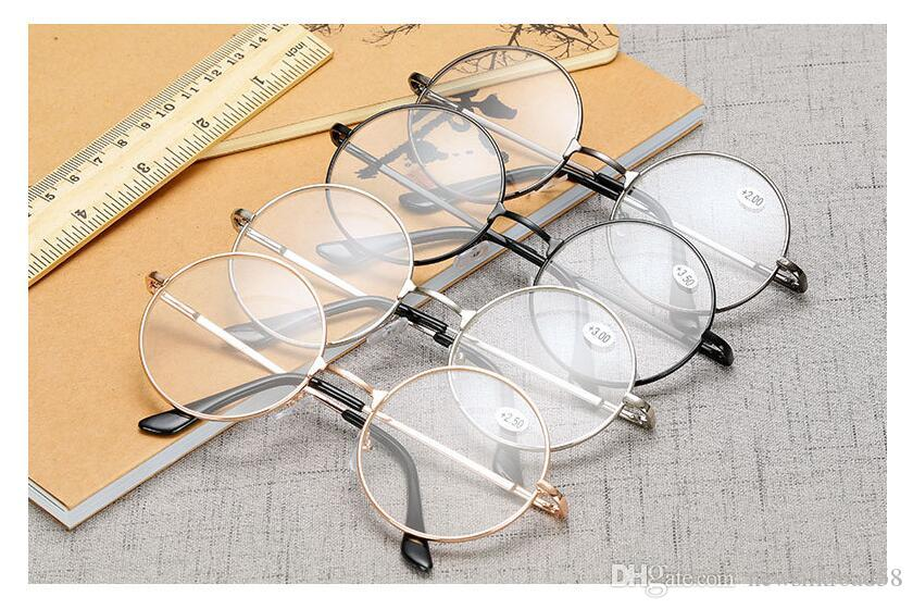 Lunettes de lecture rondes en métal rétro Hommes Femmes Lunettes Presbytie Harry Potter Lunettes de lecture / Livraison gratuite