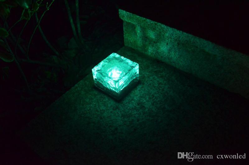 Güneş Enerjili Cam panel Bahçe Işık, Renk Solar Masa Lambaları değiştirme Taraflar süslemeler Su geçirmez Güneş Açık Işıklar