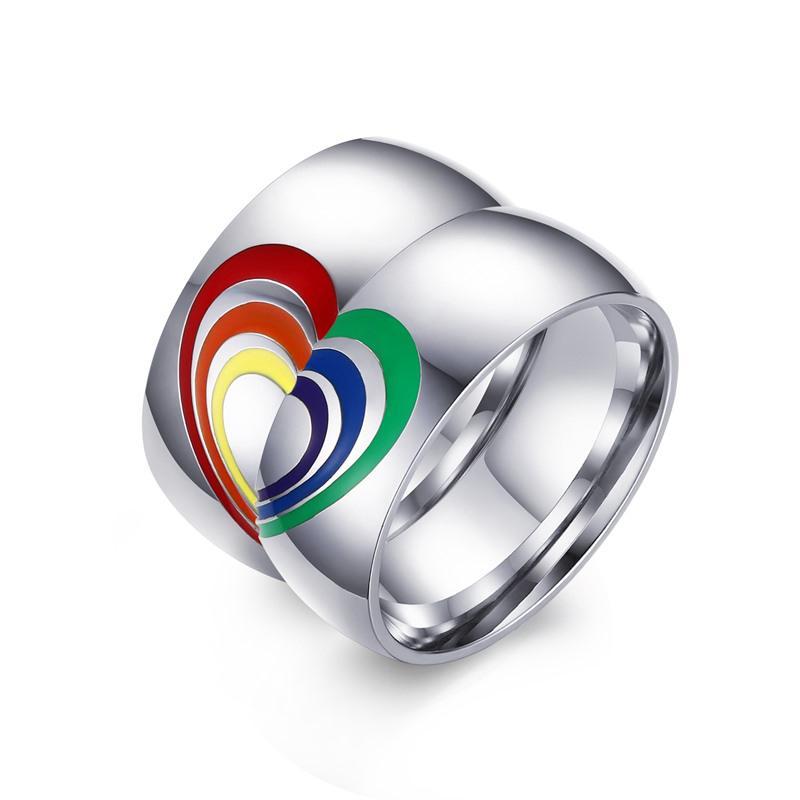 see larger image - Lgbt Wedding Rings