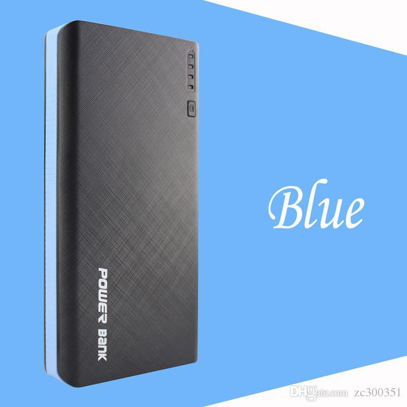 20000mAh External Battery Charger Power Bank Portable Slim Ultra Thin Banks Pack for 4 USB Universal Cell Phone iPhone 7