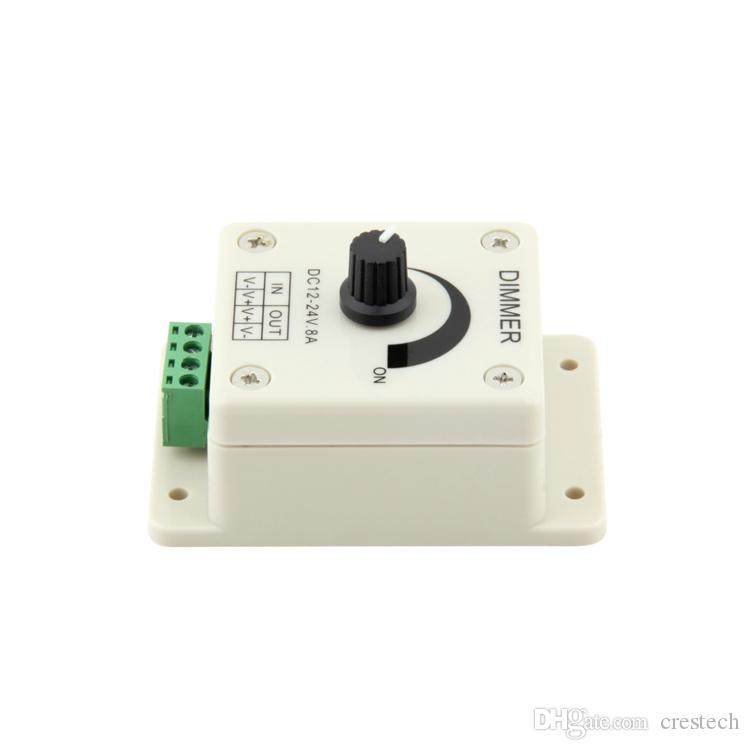 DImmers 12V 8A Rotary LED Dimmer Switch Brightness from 0% to 100% Single Color Adjustable For LED Lights Strips Dimmer