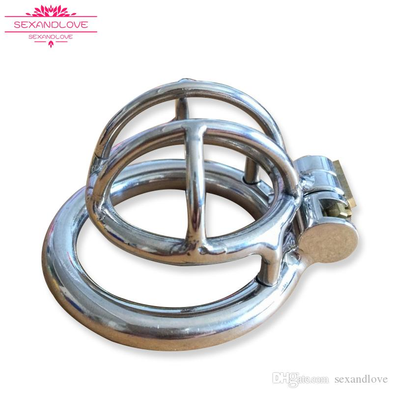 2017 Male Stainless Steel Chastity Device BDSM toy Cock Cage With Catheter cheap urethral sound dilator Penis Lock Cock Ring man sex toys