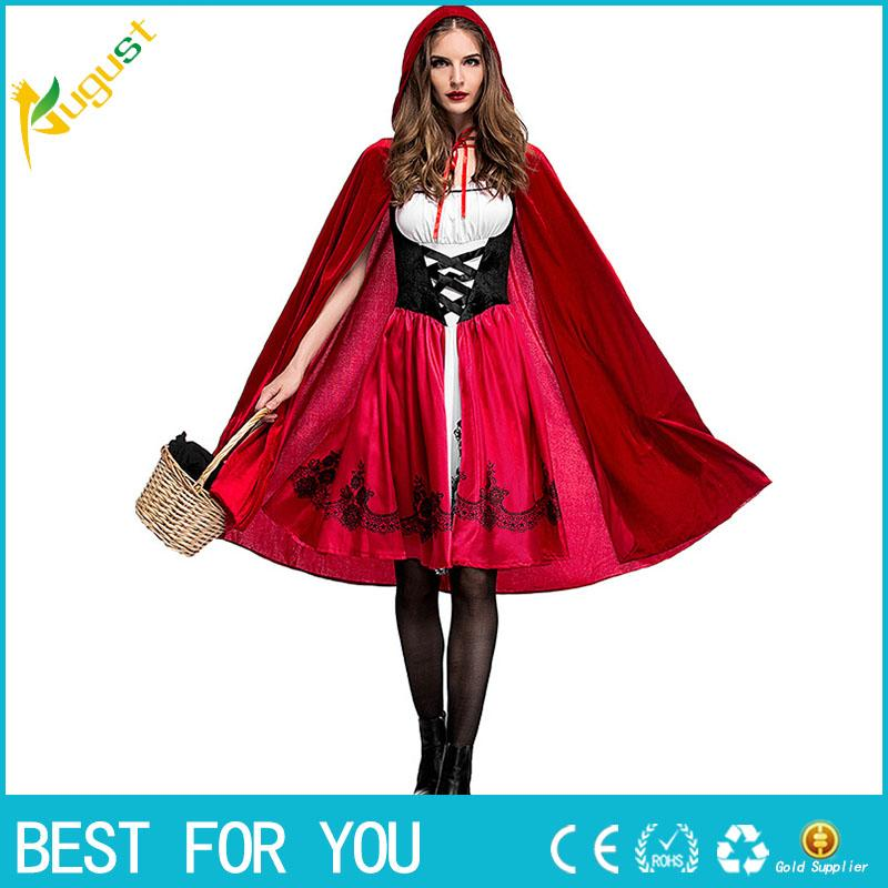 Lady A Halloween Costume | Adult Women Halloween Costume Little Red Riding Hooded Robe Lady