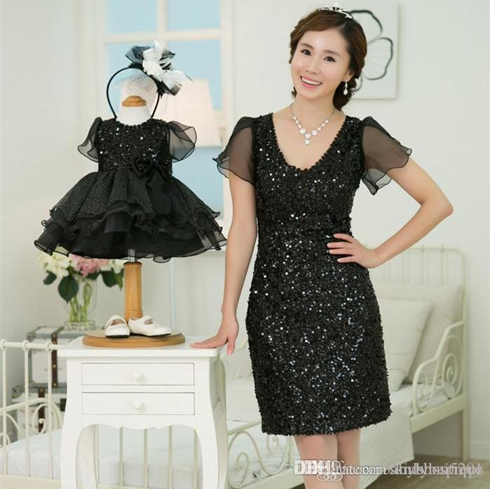 Birthday Outfit For Mom: Wedding Birthday Sequined Dress Mother Daughter Tulle