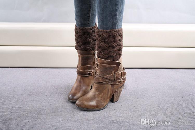 Großhandels-Art und Weise neu, zum der warmen Stiefelmanschetten zu halten, die Socken crus Böhmen-Bandschnürenbeinwärmer A0583 stricken