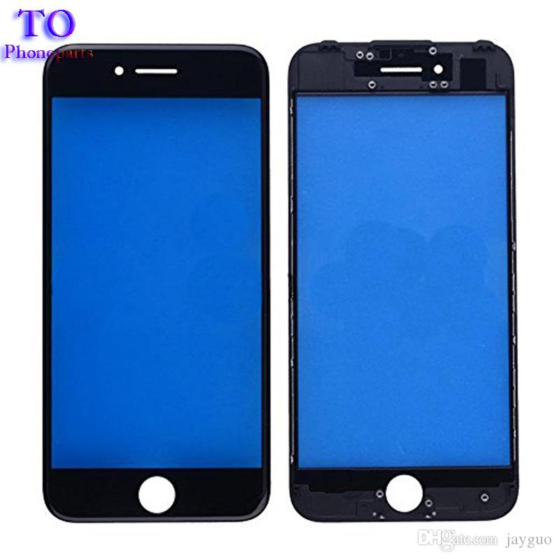 Front Touch Screen Panel Outer Glass Lens with Cold Press Middle Frame Bezel Screen for iPhone 5s 6 6s plus 7 plus
