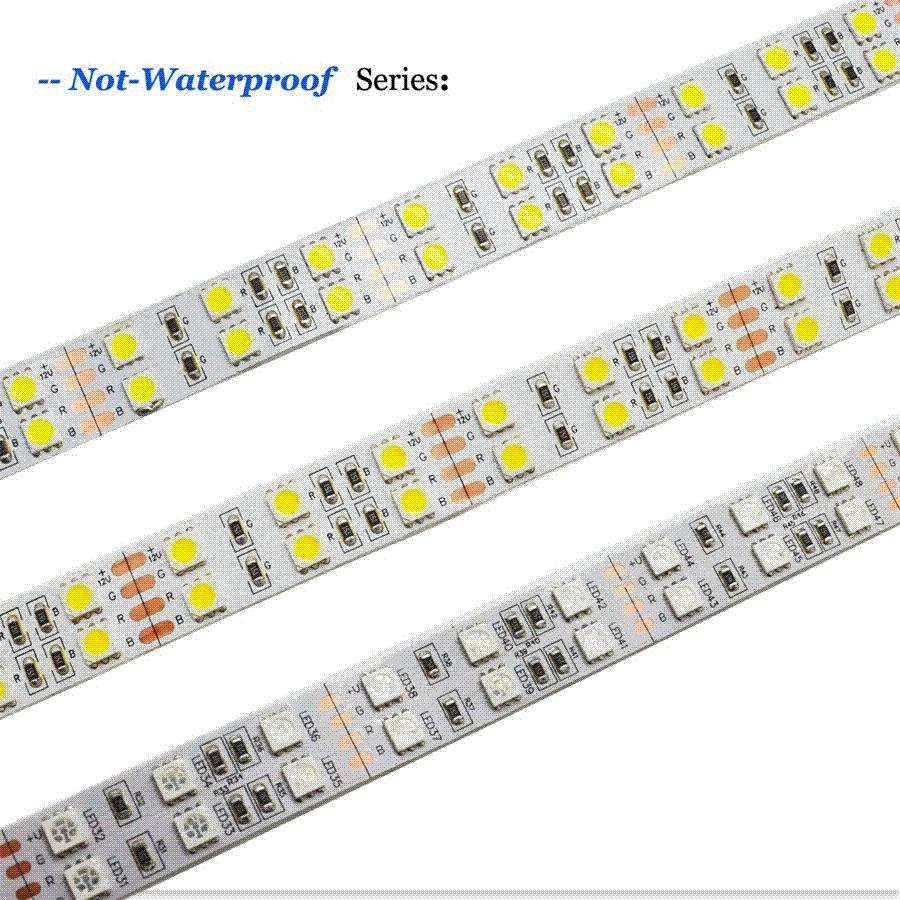 Double row led strip 5050 dc12v silicone tube waterproof flexible see larger image sciox Gallery