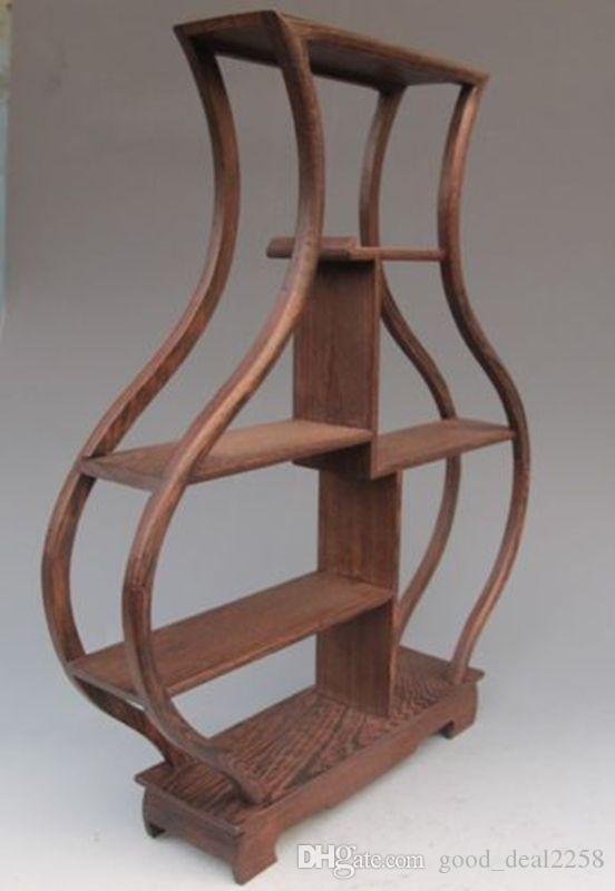 wood Stand SHELF For Netsuke Snuff Bottles Or Curios Pretty