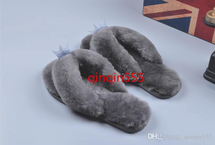 Hot Selling Autumn Winter Home Cotton Plush Slippers Women Indoor\ Floor Flip Flops Flat Shoes Girls Gift