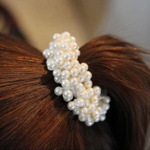New Fashion Women Lady Pearls Beads Elastic Hair Rope Scrunchie Ponytail  Holder Hair Band Accessories Women Hair Clips Womens Hair Pieces From  Bchenbinfeng b6bc1ce2836