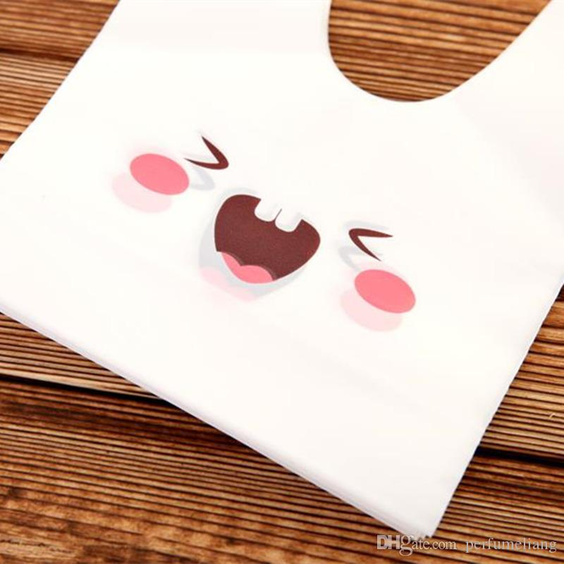 Hot Selling rabbit ear cookie bags plastic candy Biscuit Packaging Bag Wedding Candy Gift Bags party Supplies F2017210
