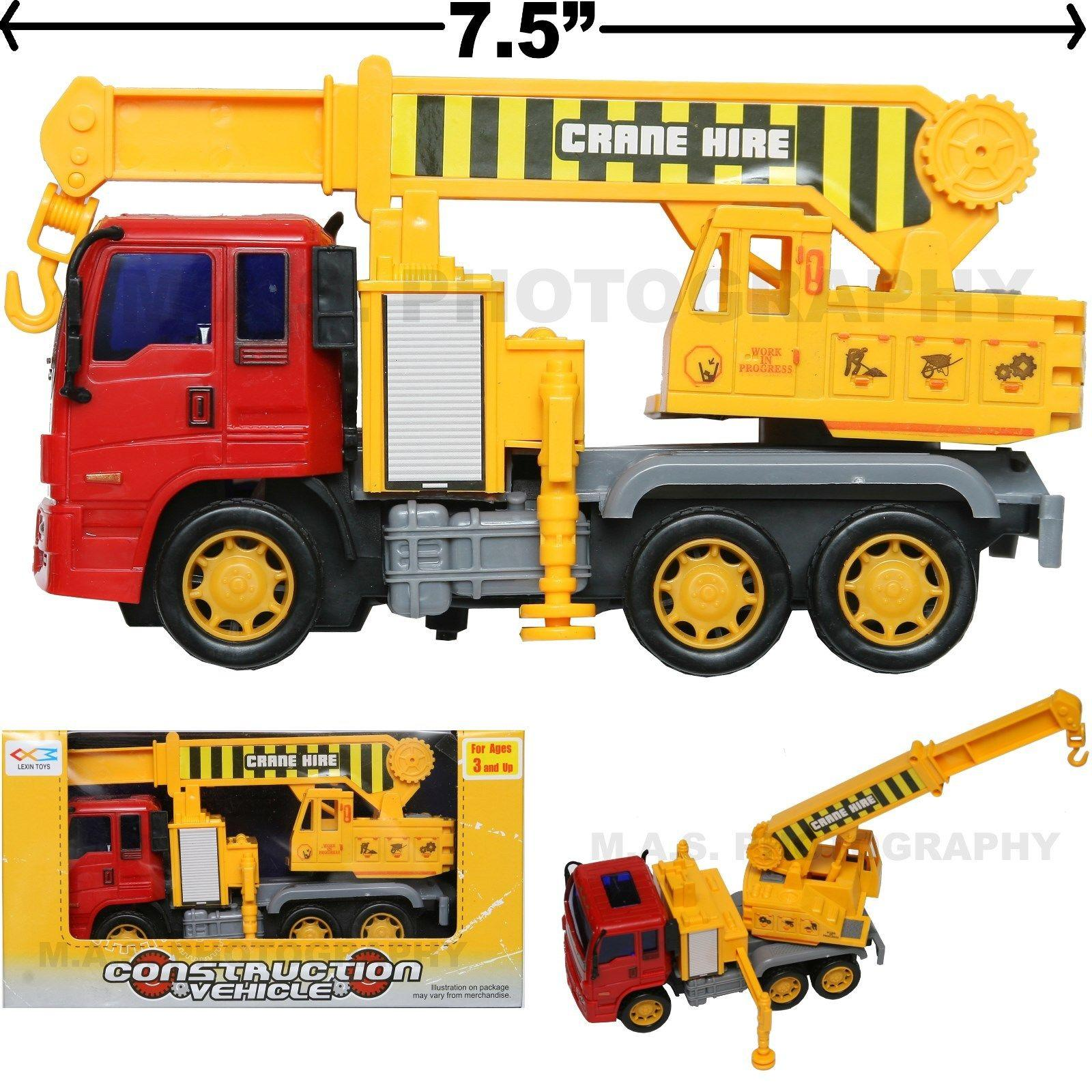 2018 Crane Hire Truck Toy Construction Vehicle Friction Powered