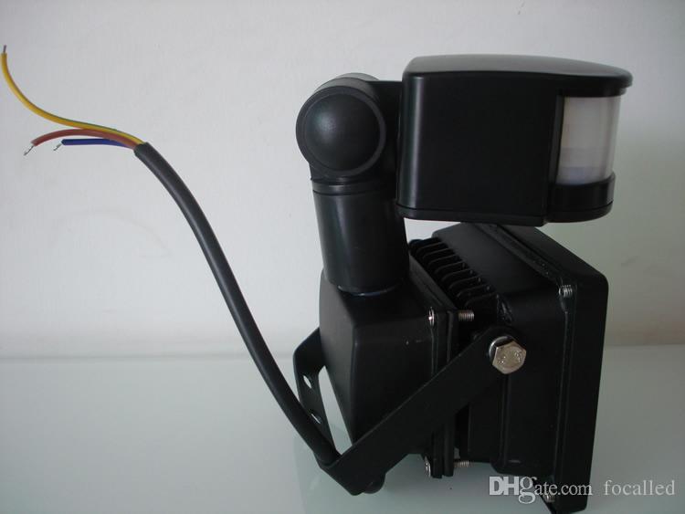 AC12V 10W/20W/30W/50W PIR LED Flood light White Warm Floodlight Motion Sensor Warm Cold White Outdoor Garden Lamp LED wash light