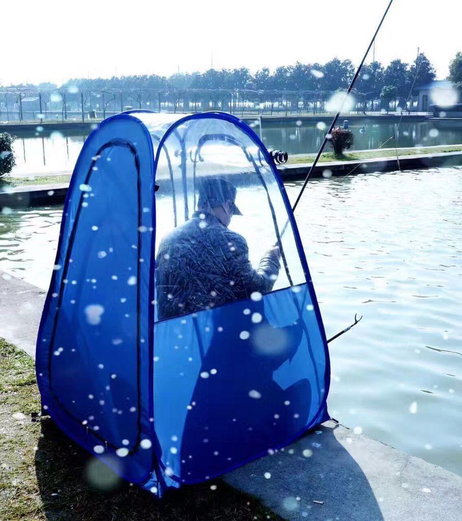 Pesca al aire libre, a prueba de lluvia, para una sola persona. Aislamiento de la sombrilla privada. Ver deportes. Tienda de campaña emergente / Mantener caliente abrir una tienda de PVC portátil.