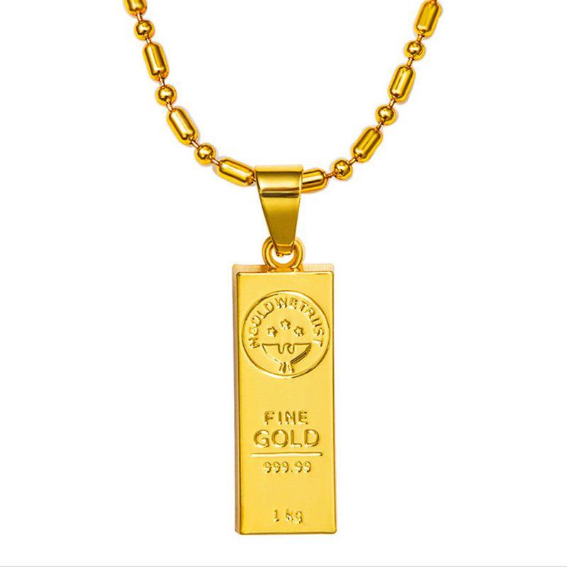 Wholesale gold we trust pendant necklace hip hop chain golden bars wholesale gold we trust pendant necklace hip hop chain golden bars pendants necklaces jewelry for rapper dancer dj rock women men wearing small pendant aloadofball Choice Image