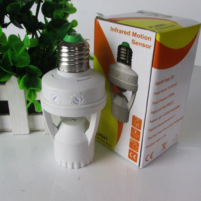 Sensore di movimento a induzione PIR regolabile a 360 gradi IR a infrarossi umani E27 B22 E14 Presa sensore interruttore della luce Base Lampadina a led Supporto lampada