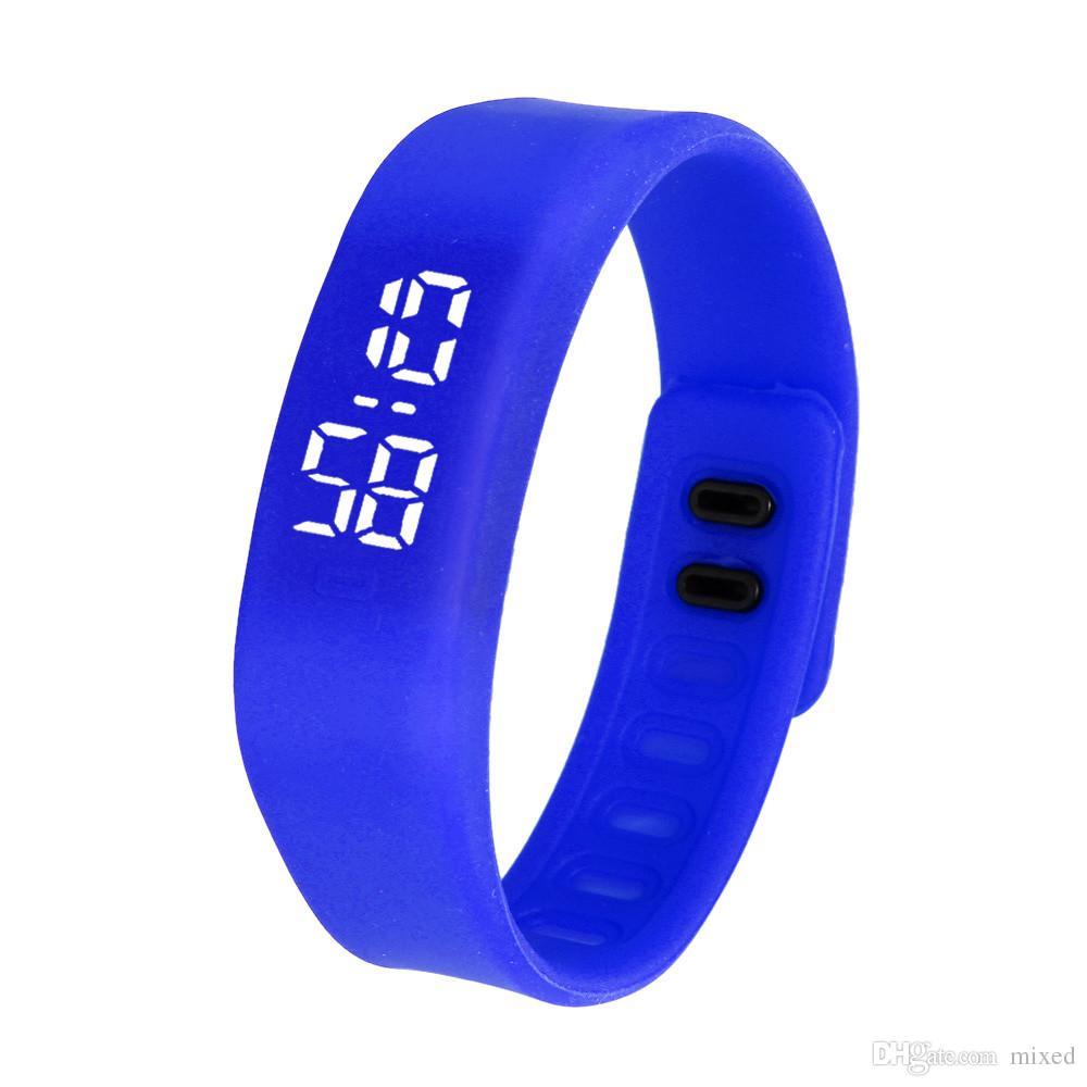 Relojes Mujer Donna Uomo di sport LED Esecuzione Guardare braccialetto di gomma orologio digitale da polso Girl Dress Orologi vigilanza principale