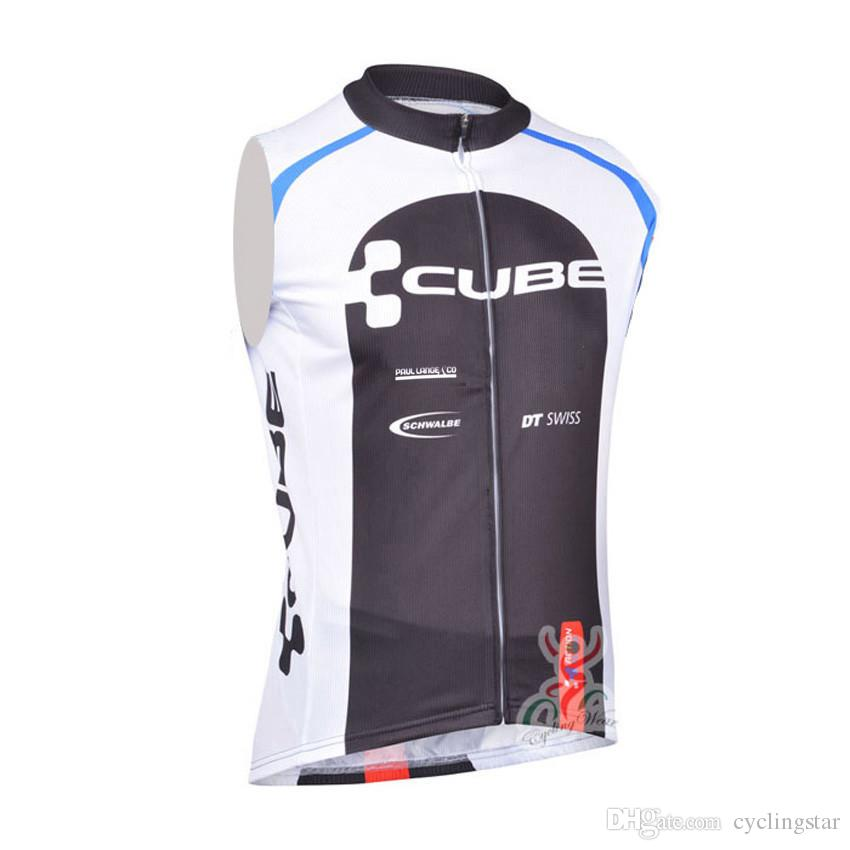 2017 CUBE Pro Team Cycling sleeveless jersey bike vest maillot Ciclismo quick dry tour de france men Bicycle Clothing Racing MTB shirt B2502