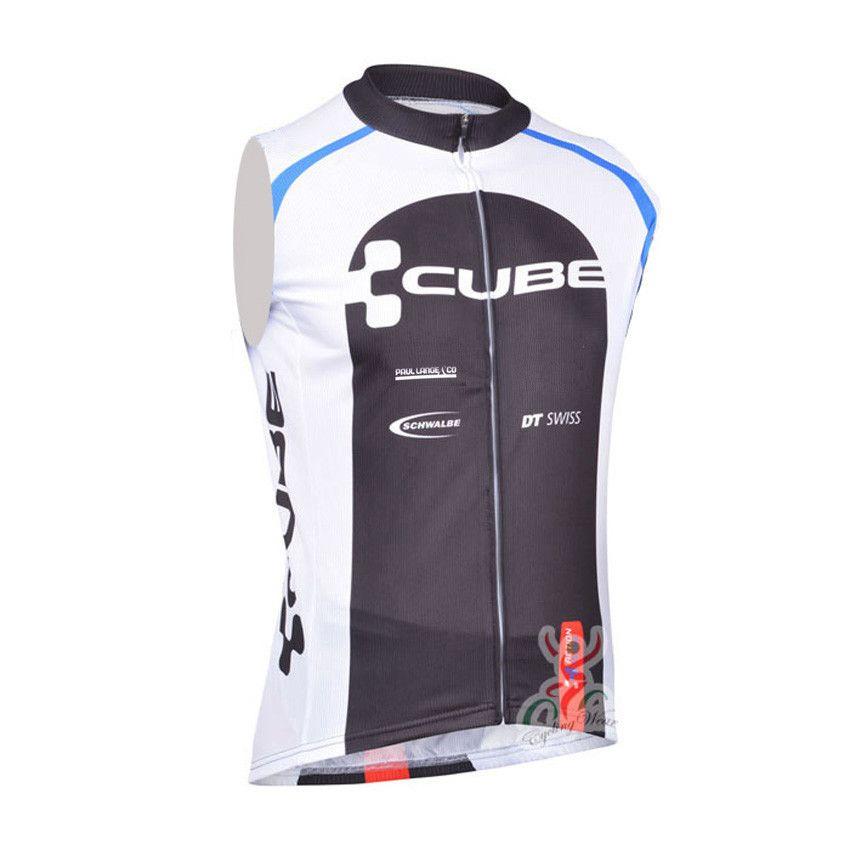 b6558a09b New CUBE Pro Team Cycling Sleeveless Jersey Bike Vest Maillot Ropa Ciclismo  Quick Dry Bicycle Clothing Racing MTB Shirts B1305 Cycling Sleeveless  Jerseys ...
