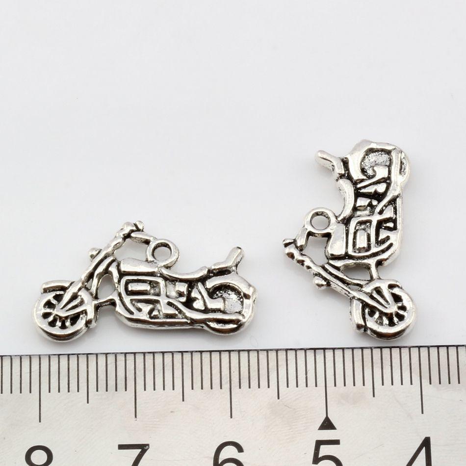 Motorcykel Charms Pendants / parts 24.5x14mm Antik Silver / Bronslegering Smycken DIY Fit Armband Halsband Örhängen