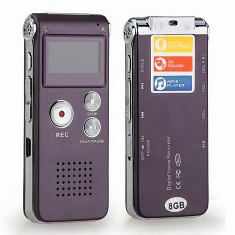 Tragbares Audio & Video Unterhaltungselektronik Heißer Verkauf 8 Gb Hohe Qualität Usb Vor Wiederaufladbare Digital Audio Voice Recorder 650hr Diktiergerät Mit Mp3 Schwarz Farbe
