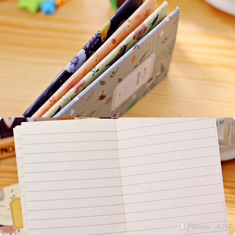 / Set Kawaii Simpatici Fiori Uccelli Quaderno di animali Dipinto di Diario Libro Journal Record Materiale scolastico ufficio