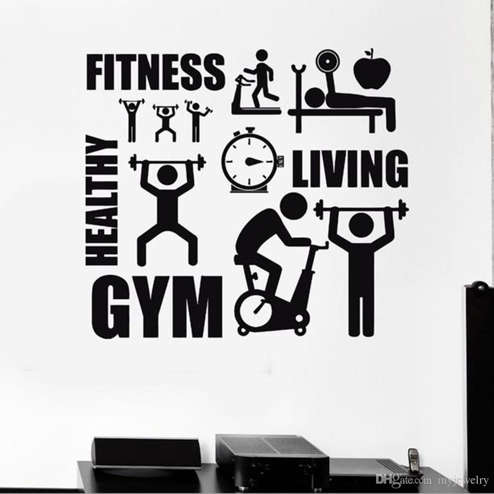 Home Wall Sticker Decal Healthy Lifestyle Sport Motivation