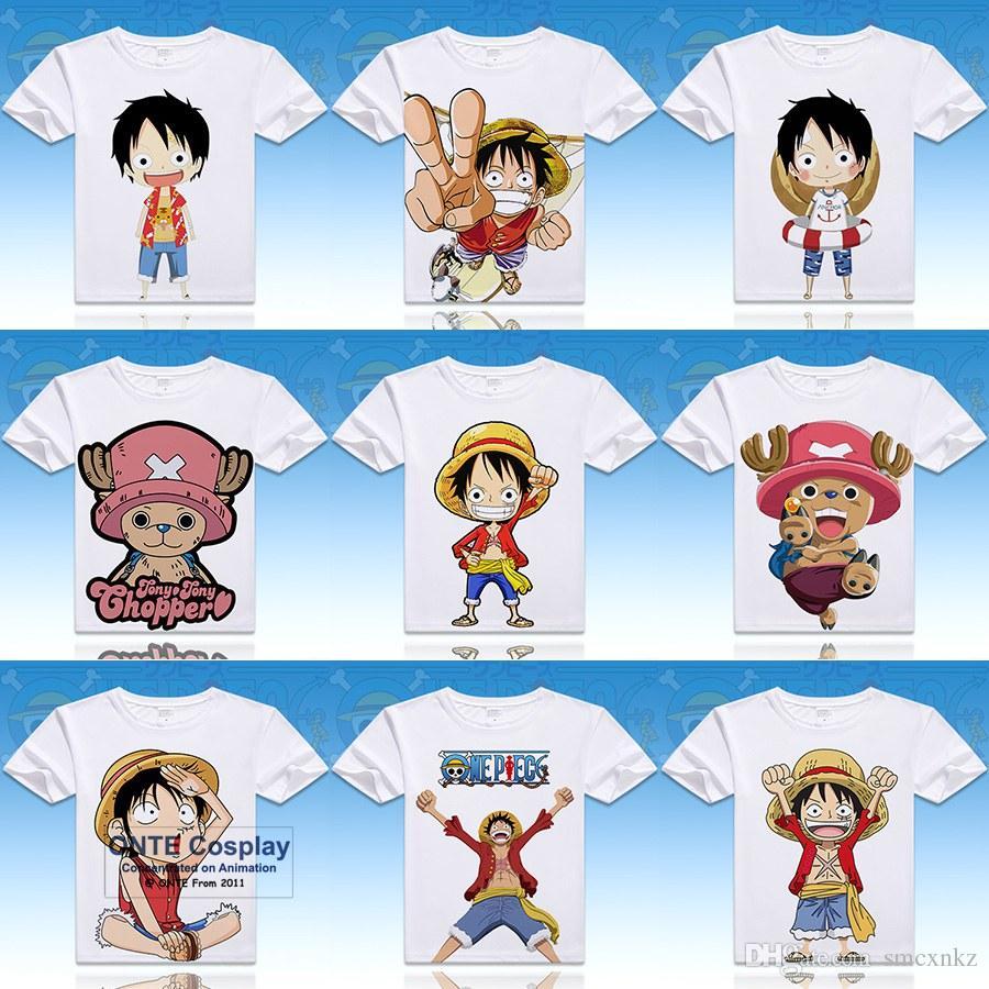Anime One Piece Cosplay Gedruckt Luffy Kurzarm T Shirts O Ausschnitt Lorenor Zorro Tops