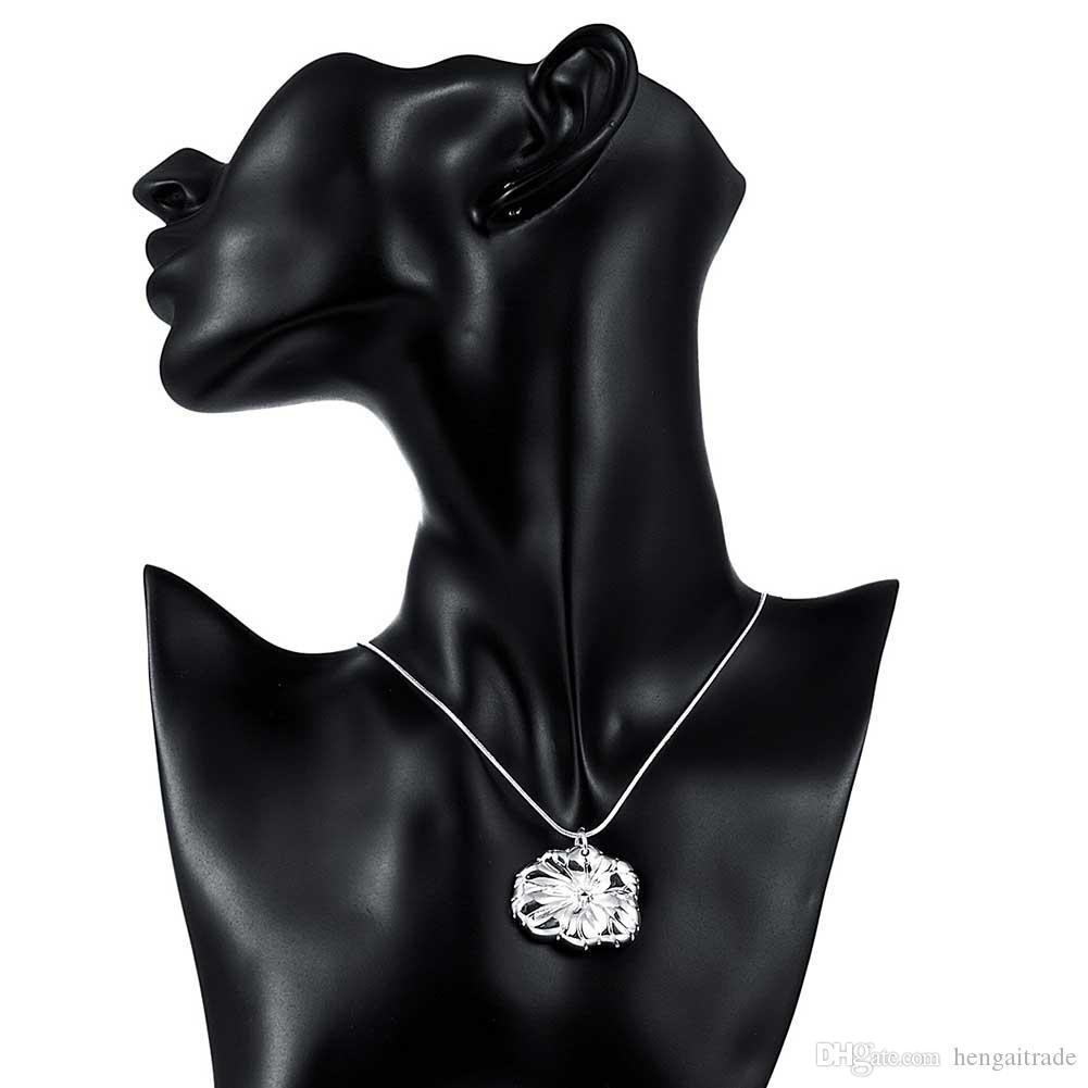 10 teile / los Freies Verschiffen Silber überzogene Frau Link Halskette Schmuck LKNSPCN788