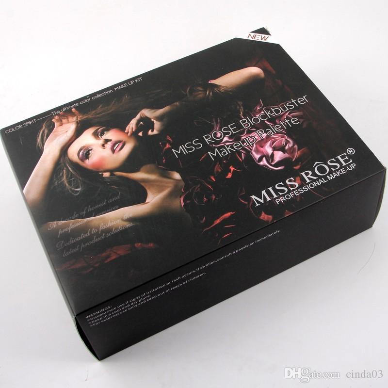 Miss Rose al por mayor de es de sombra de ojos 2 2 ete maquillaje de la ceja Set brillo mate de las mujeres constituyen la gama de colores envío libre