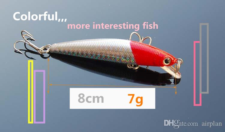 Red head 3D eyes minnow fishing bait wobbler hard topwater fishing lures artificial bait fishing accessories pesca tackle hooks