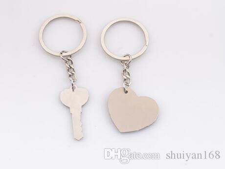Couple I LOVE YOU Heart Keychain Ring Key Ring Key Chain Lover Romantic Creative Birthday Gift