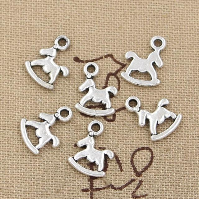 Wholesale 99Cents Charms Rocking Horse 1310mm Antique Making Pendant FitVintage Tibetan SilverDIY Bracelet Necklace Charm Jewelry