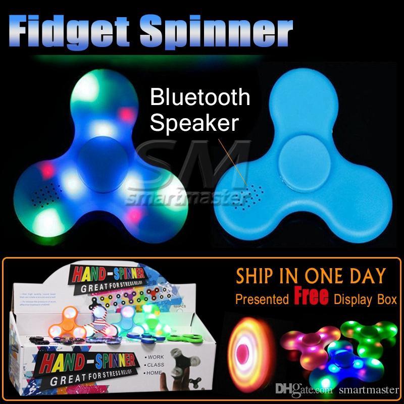 Fidget Spinner New Fidget Spinner Bluetooth Speaker Hands Spinner Triangle Finger Spinning Top Decompression Finger Toys Stress Relief Toy