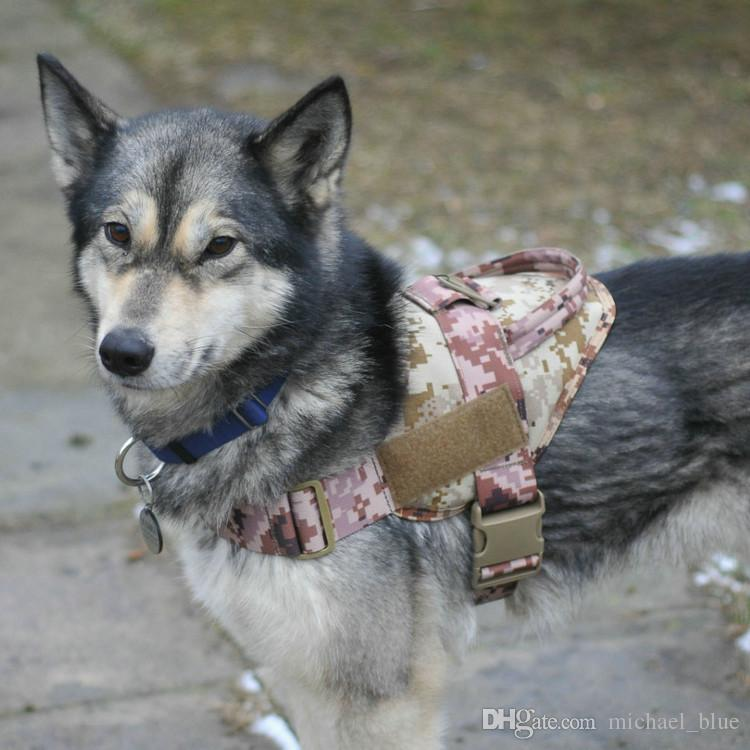 Gilet di addestramento tattico cani 800D Nylon Regolabile abbigliamento sportivo da indossare Gear Patrol Dog Harness Service Canottiera cani