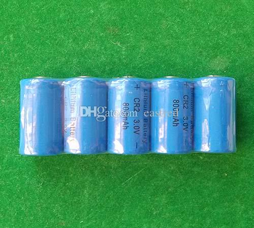 CR2 3v Lithium non rechargeable battery 800mAh for photo camera LED flashlights
