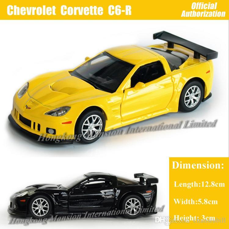 Modèle Chevrolet Corvette R 36 Toys Rouge Blanc Back Car En Noir Voiture C6 Métal Pour Collection Pull Taille Jaune De 1 Alliage P8wkXNnO0