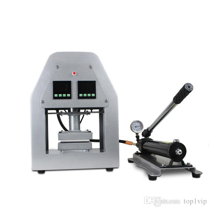 6x12cm Hydraulic Rosin Press Oil Press LCD display controller Dual Element 14000PSI More Than 20 Tons Pressure Heating