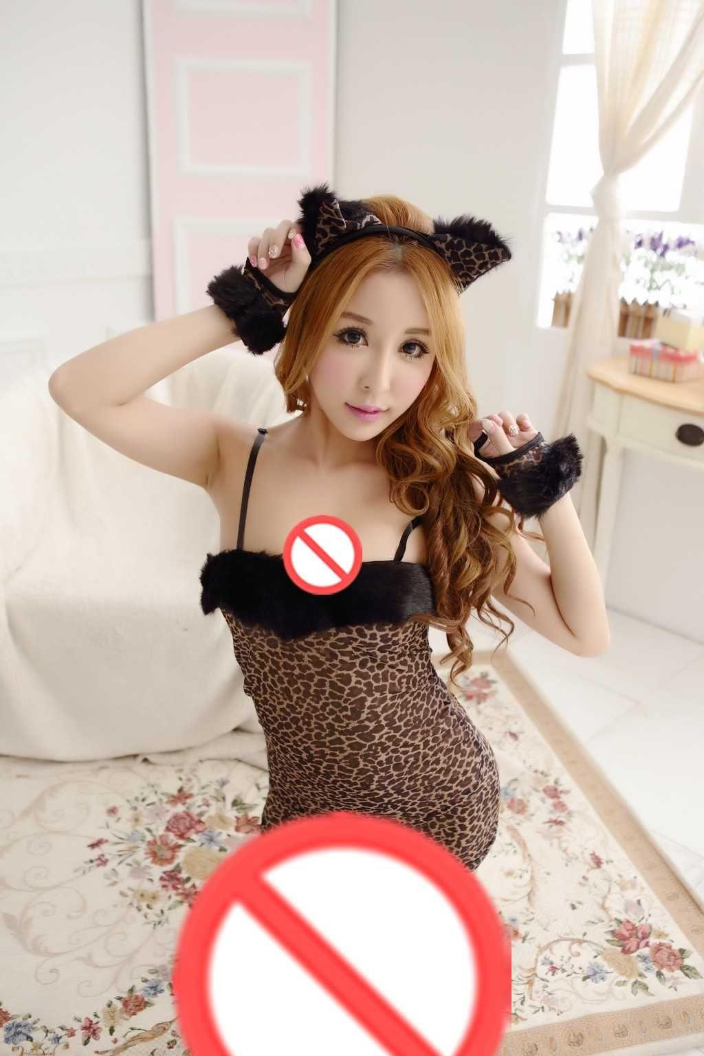 Ruolo libero di trasporto che gioca cosplay RPG Biancheria intima casuale Sexy Cat Girl Kit di coniglietto uniforme Tentazione Pack