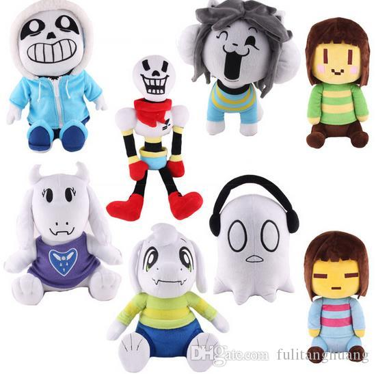 Undertale Frisk Chara Sans Papyrus Frisk Asriel Napstablook Toriel Temmie Stuffed Doll Plush Toy For Kids Gifts