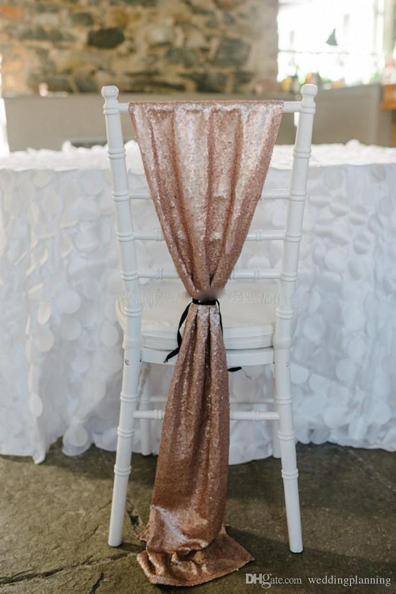 A basso costo della sedia della sedia della sedia del paillettes della rosa economica della sedia del fomento del fomento della sedia di nozze del fomento della sedia dei fomalli della sedia dei fomalli da sposa 150 * Dimensione 50 cm