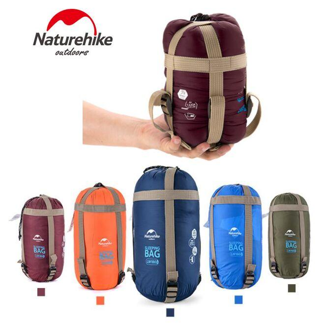 NatureHike Sleeping Bag Outdoor Envelope bags 5 color Ultralight Hiking Camping Hiking Mini Ultra Small Size 1900mmx750mm Free shipping