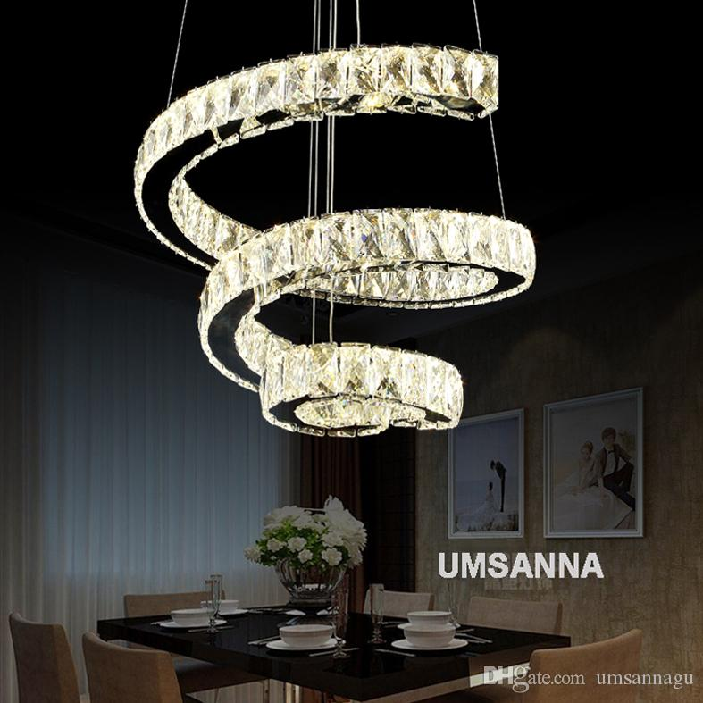 Led modern crystal chandeliers dimmable spiral chandelier lights led modern crystal chandeliers dimmable spiral chandelier lights fixture dimming hanging lamp cafes villa home indoor lighting small chandelier chandelier aloadofball Gallery