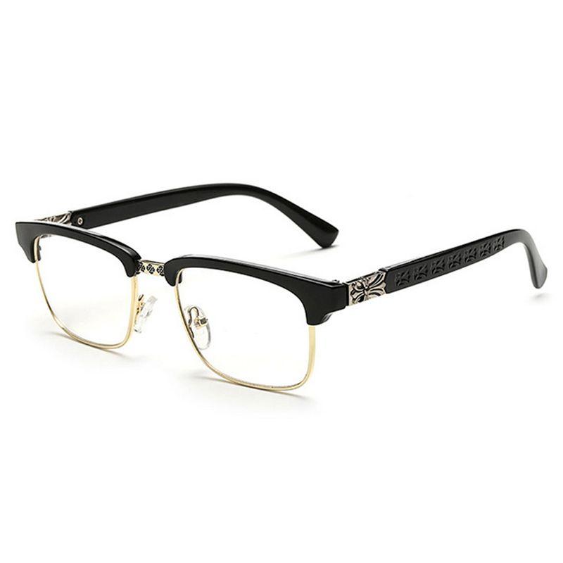 67282bb9f12 2019 D.King Women Vintage Retro Classic Half Frame Horn Rimmed Clear Lens  Glasses Clear Lens PU Glasses Mens Womens Eyewear Fashion Frame Unisex From  ...