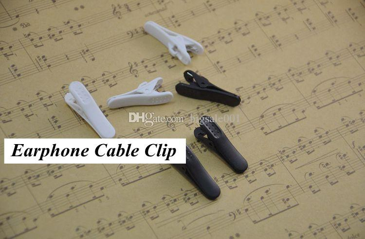 duck Headphone Earphones Cell Phone Cable Cord Wire Clip Nip Clamp Holder black white