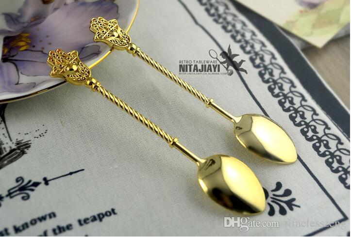 ретро кофейная ложка Византия Средневековья палочка серии смешивания ложка длина около 10.7 см десертная ложка